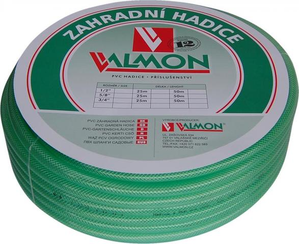 "VALMON Zahradní hadice PVC 1/2"" x 25m - Pmax 10BAR"